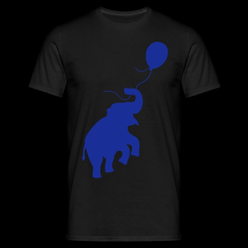 Elefant mit Ballon - Männer T-Shirt