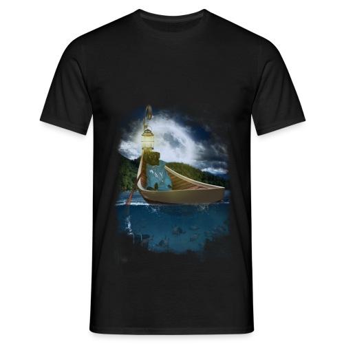 Cay in de boot - Mannen T-shirt