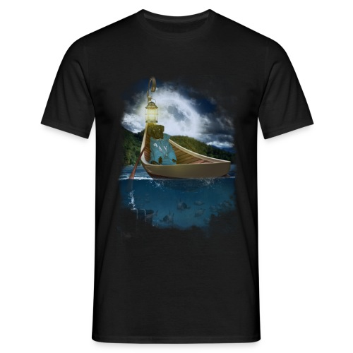 Cay in de boot - Mannen T-shirt