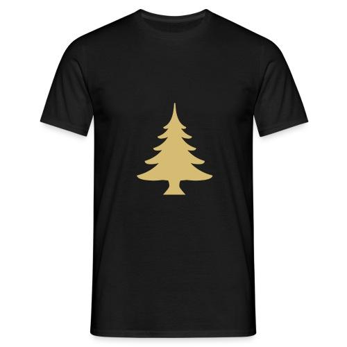 Weihnachtsbaum Christmas Tree Gold - Koszulka męska