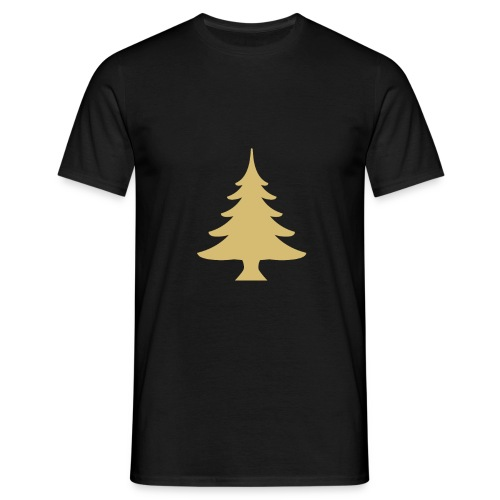 Weihnachtsbaum Christmas Tree Gold - Mannen T-shirt
