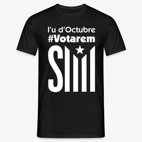 referendum 2017 blanc - Camiseta hombre