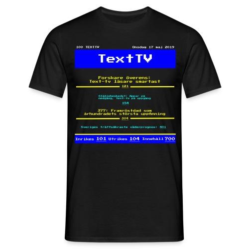 Text100 - T-shirt herr