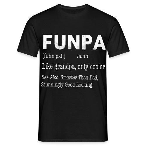 Funpa like grandpa only cooler - Men's T-Shirt