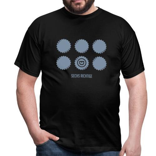 Sechs Richtige - Männer T-Shirt