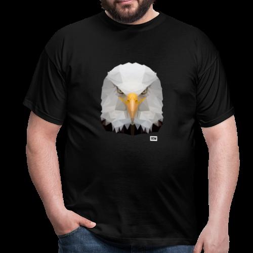 Eagle of Triangles white logo - Men's T-Shirt
