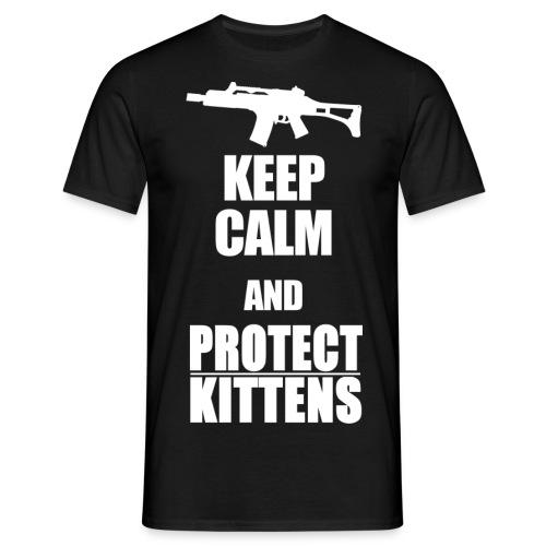 Keep Calm and Protect Kittens - Männer T-Shirt