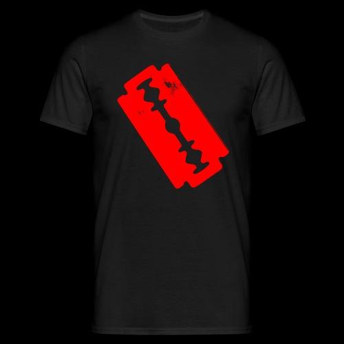 Blutige Zeichen + Rasierklinge + - Männer T-Shirt