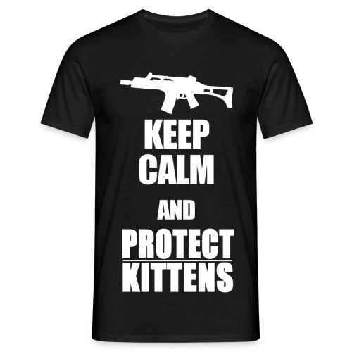 Keep Calm and Protect Kittens - Männer T-Shirt
