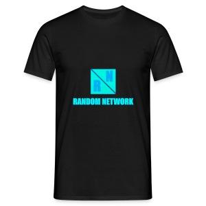 RandomNetwork Black T-SHIRT (Design 2) - Mannen T-shirt