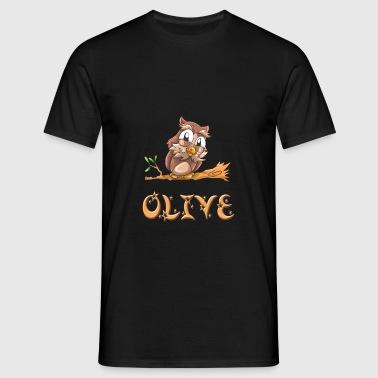 Owl Olive - T-shirt Homme