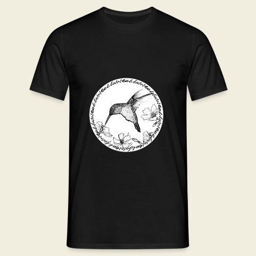Kolibri Blüten Kreis - Männer T-Shirt