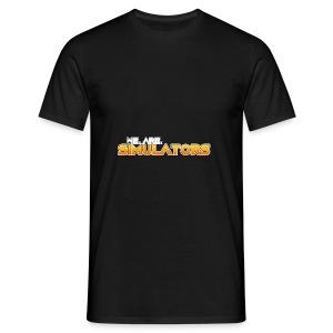 we are simulators tshirt logo - Men's T-Shirt