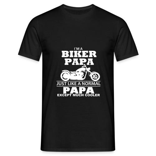 BIKER PAPA - Motorrad Shirt - Biker Shirt 2018 - Männer T-Shirt