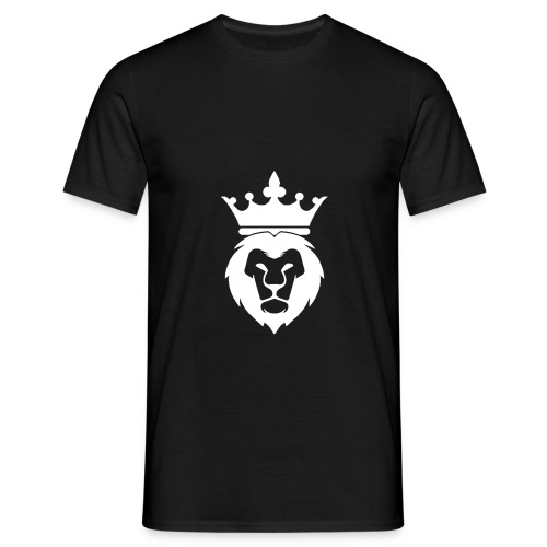 Lion_Logo_with_Crown_St--rre_bild_-white- - T-shirt herr