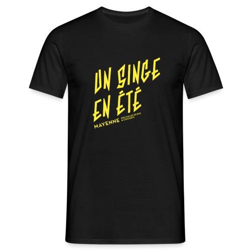 LOGO baseline jaune - T-shirt Homme