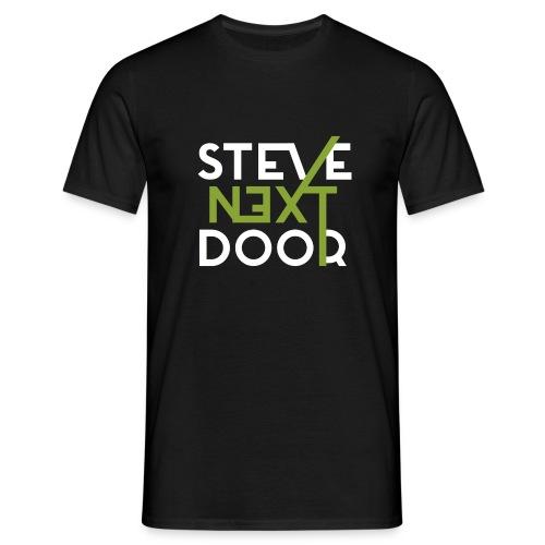 Steve Next Door - Klassisches Logo - Männer T-Shirt