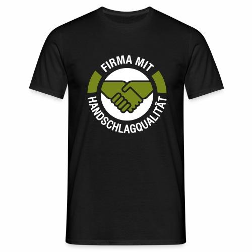 Handschlagqualität Logo weiss - Männer T-Shirt
