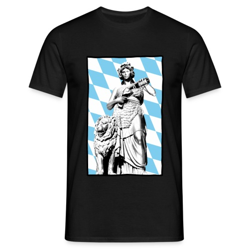 Bavaria am Weißbier schwoam - Männer T-Shirt