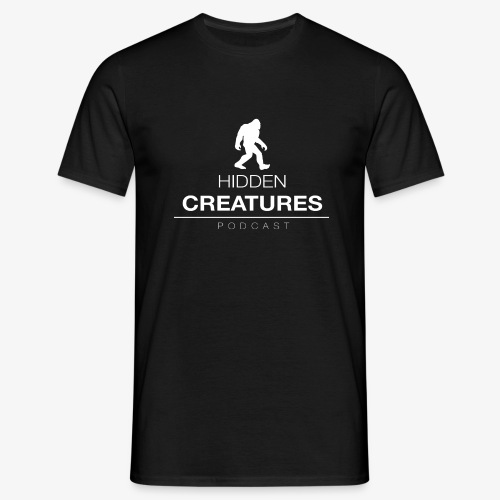 Hidden Creatures Logo White - Men's T-Shirt