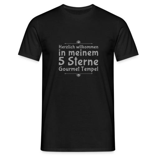 Daniela Elia Design - 5 Sterne Gourmet Tempel - Männer T-Shirt