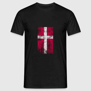 Dänemark Flagge dänische Flagge Geschenk - Männer T-Shirt