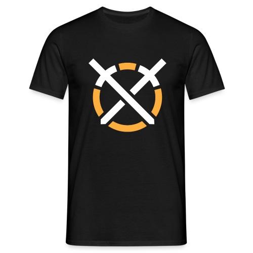 Símbolo «Arte do Combate» sobre fundo escuro - Camiseta hombre