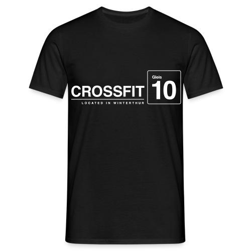CrossFit_Gleis_10_Logo_1_White - Männer T-Shirt