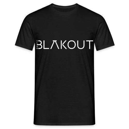 Bläkout -logo valkoinen - Miesten t-paita