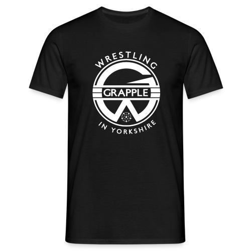 White Grapple logo - Men's T-Shirt