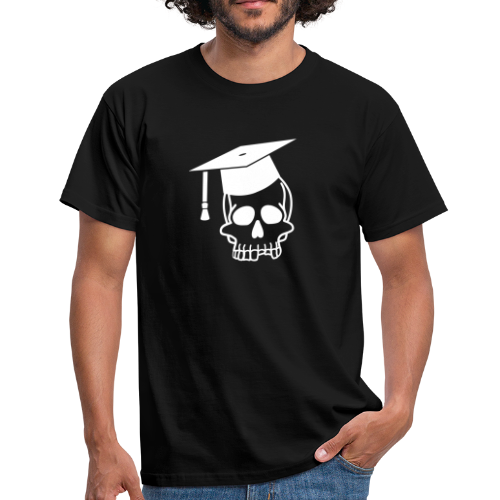 Schädel mit Doktorhut - Geschenk Examen, Prüfung - Männer T-Shirt