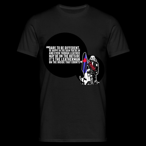 Mr Leather UK 2017 with Slogan - Men's T-Shirt