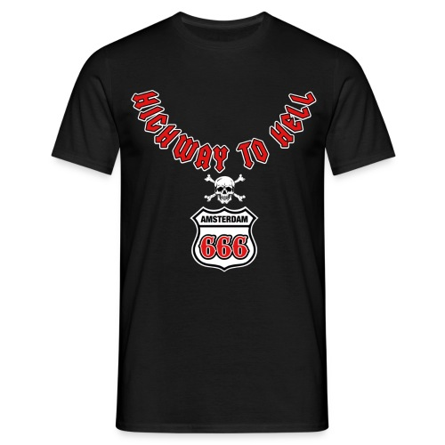Highway 2 hell amsterdam - Mannen T-shirt