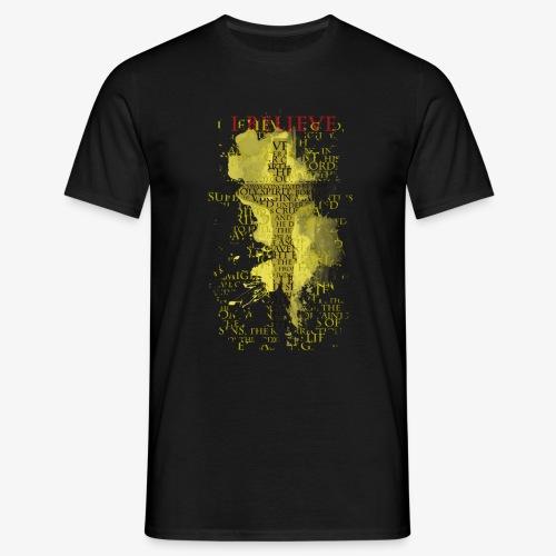 I believe / wierzę (yellow-żółty) - Koszulka męska