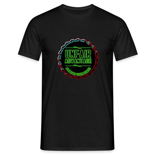 UFAV Back and Green Logo - Men's T-Shirt