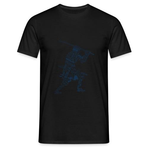 Typo-Ninja-Blue - Männer T-Shirt
