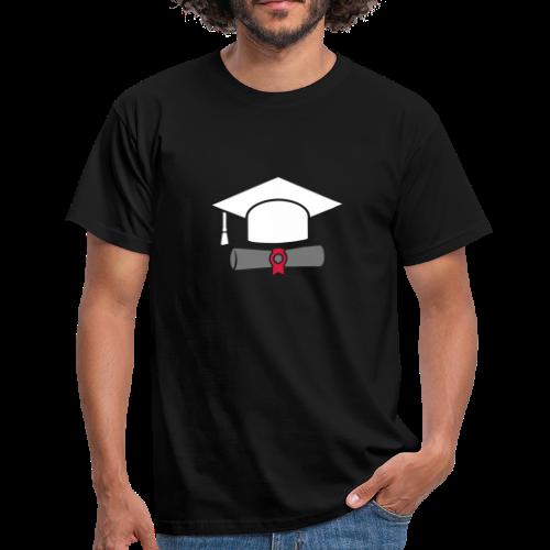 Doktorhut mit Zeugnis - Geschenk zum Abschluss - Männer T-Shirt