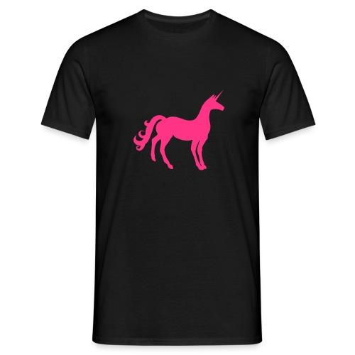 Unicorn in Pink. Vielleicht das letzte Einhorn. - Männer T-Shirt