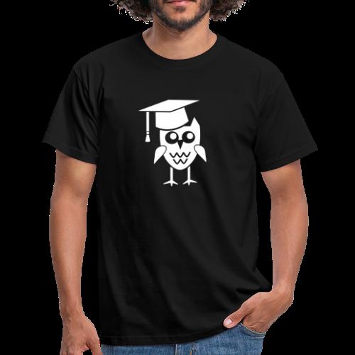 Eule mit Doktorhut Geschenk Promotion Dissertation - Männer T-Shirt