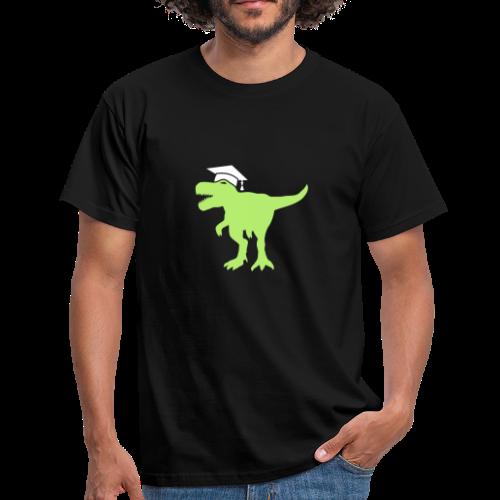 Dinosaurier Doktorhut Promotion Dissertation - Männer T-Shirt