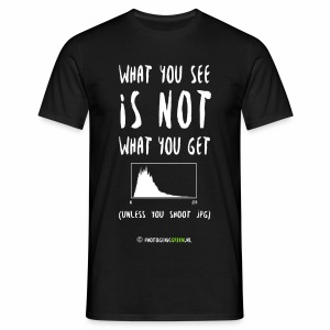 JPG histograms do not tell the truth - Men's T-Shirt
