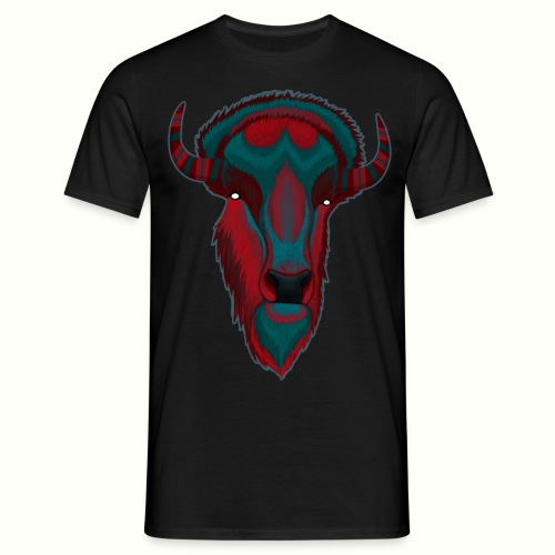 Bison - Red & BlueGray - T-shirt herr