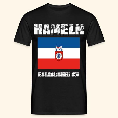 Est. 850 - Hameln zeigt Flagge   - Männer T-Shirt