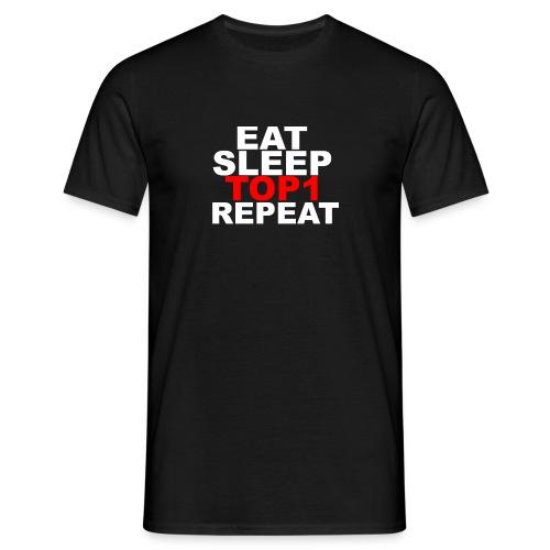 EAT SLEEP TOP 1 REPEAT - T-shirt Homme
