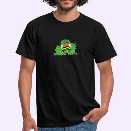 Bees Love and Unity - Männer T-Shirt