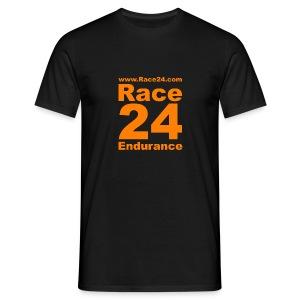 Race24 Logo in Orange - Men's T-Shirt
