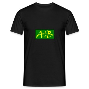 AtoB Logo green / yellow - Men's T-Shirt