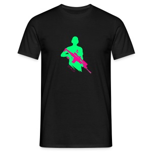 Knallige Farben - Shooter - Let's Shoot - Männer T-Shirt