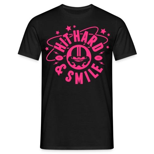 HIT HARD & SMILE PINK - Männer T-Shirt