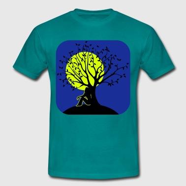 täysikuu melankoliaa romantiikka puu - Miesten t-paita